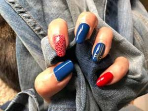 nailart-blauw-roze-rood-jeans
