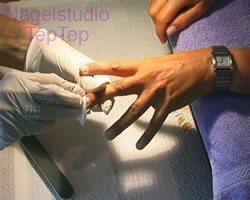 schoonmaken nagelplaat
